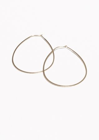 & Other Stories Droplet Hoop Earrings in Gold