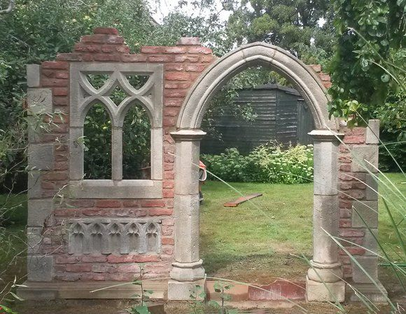 Garten Stein Ruine Aus England Hawkesbury Castle Ruinen Ummauerter Garten Gartenstruktur