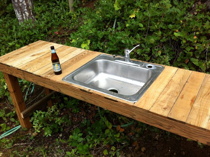 ordinary Outdoor Kitchen Sinks Ideas #5: maine outdoor kitchens | Another shot of the filter bucket, the filler tube  is 2