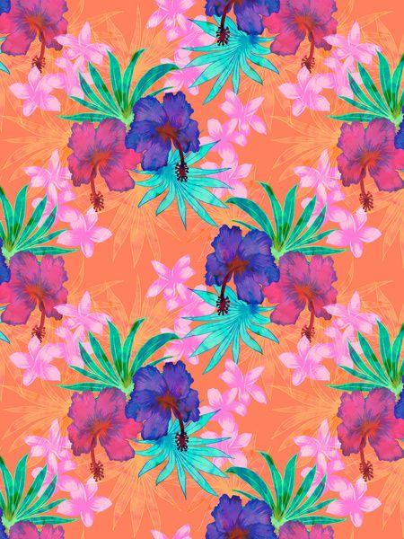 Heidi Tropical Art Print by SchatziBrown #tropical #floral