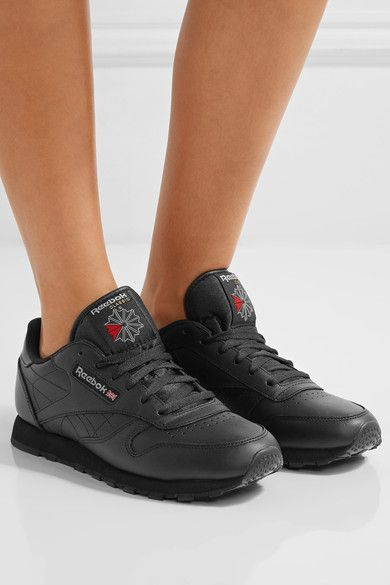 Reebok - Classic Leather Sneakers - Black - US9.5