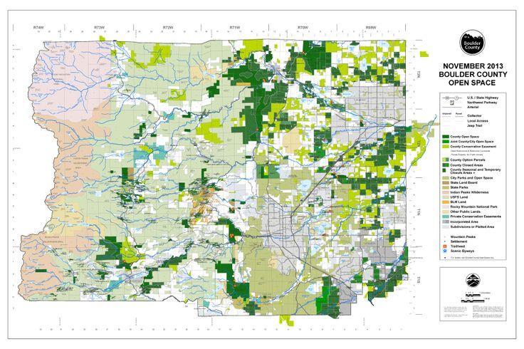 Boulder County Open space map 2013 Colorado Counties