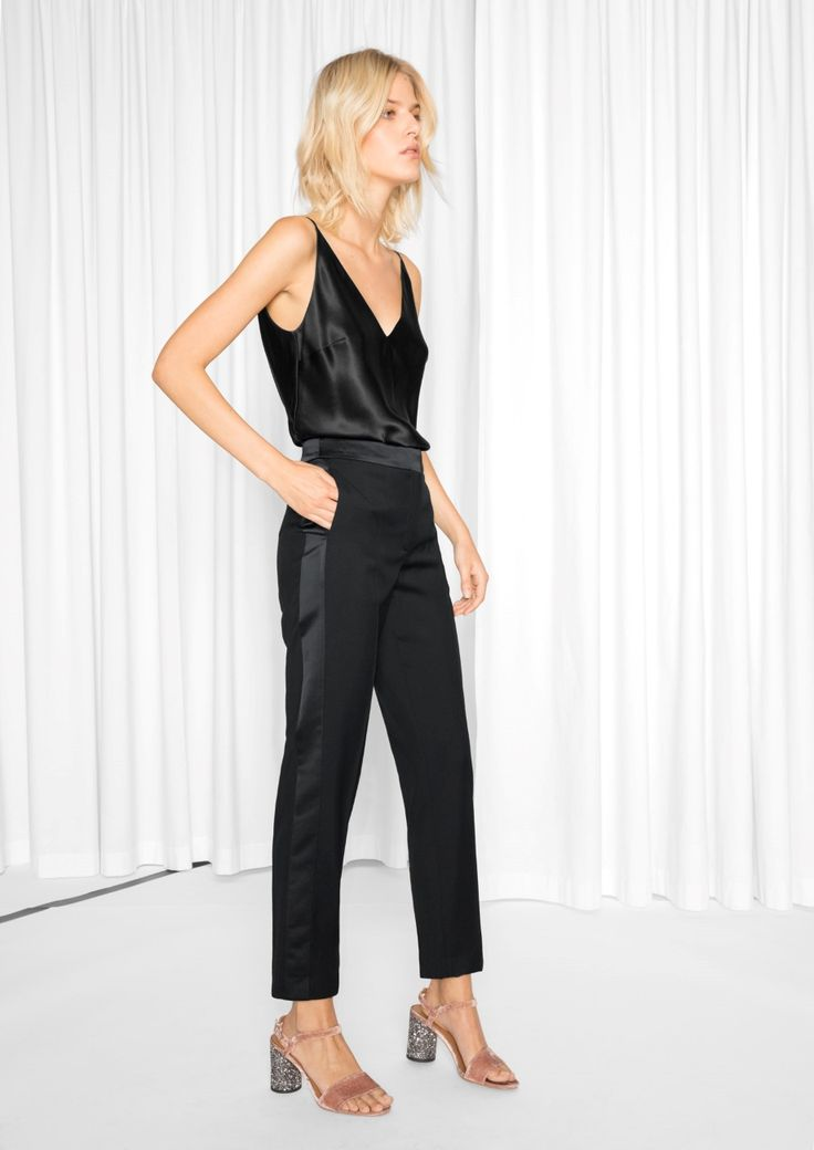 & Other Stories image 1 of Tuxedo Trousers  in Black
