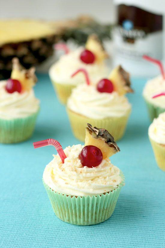 Pina Colada Cupcakes Recipe — Dishmaps
