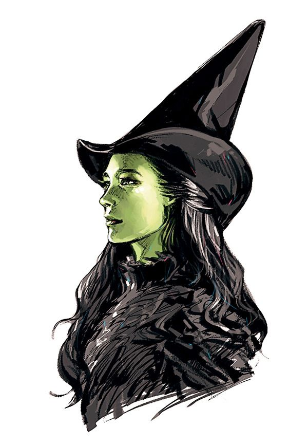 Image result for elphaba wicked illustration