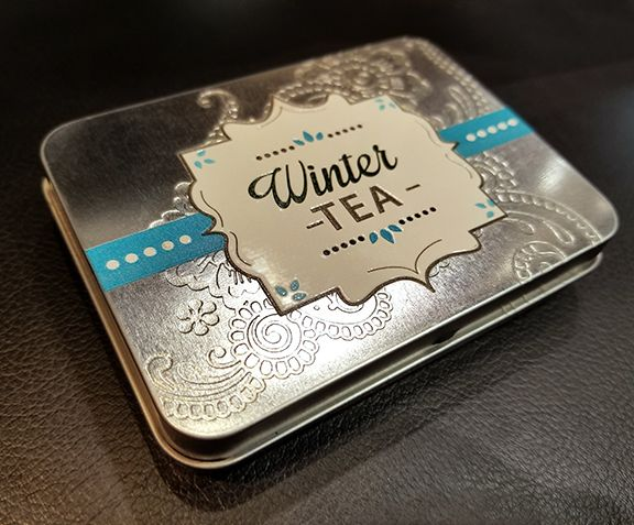 Aluminum Tin UV-printed with clear gloss texture, white ink and full color on the LogoJET UV2400 printer.