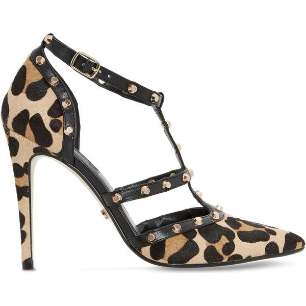Dune Daenerys leopard-print court shoes ($110) ❤ liked on Polyvore featuring shoes, pumps, high heel shoes, sports shoes, leopard pumps, leopard print pumps and pointed-toe pumps