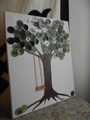 Family Tree Paint Chip Project DIY