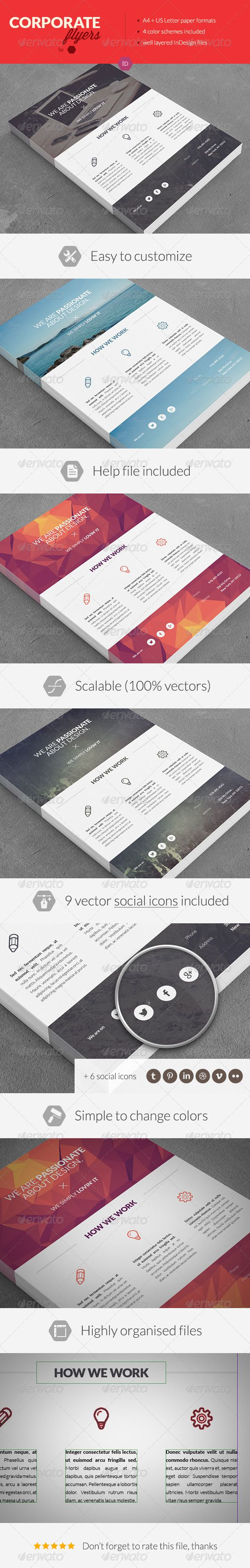 Clean Corporate Multipurpose Flyers - these are simple to make