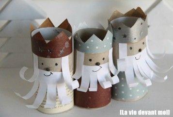 7 Manualidades infantiles de Navidad con rollos de WC