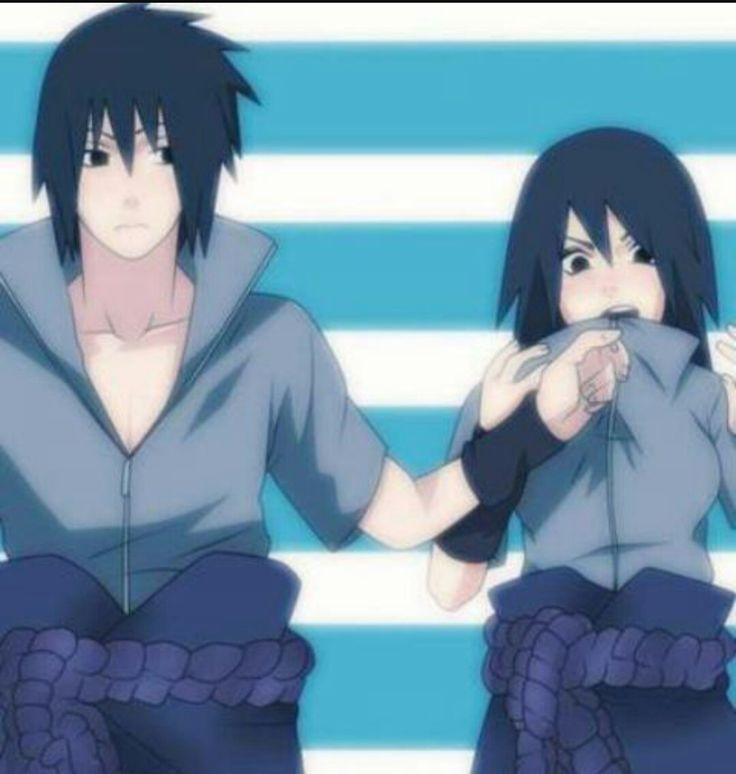 Sasuke et sa fille dans Naruto akkipuden