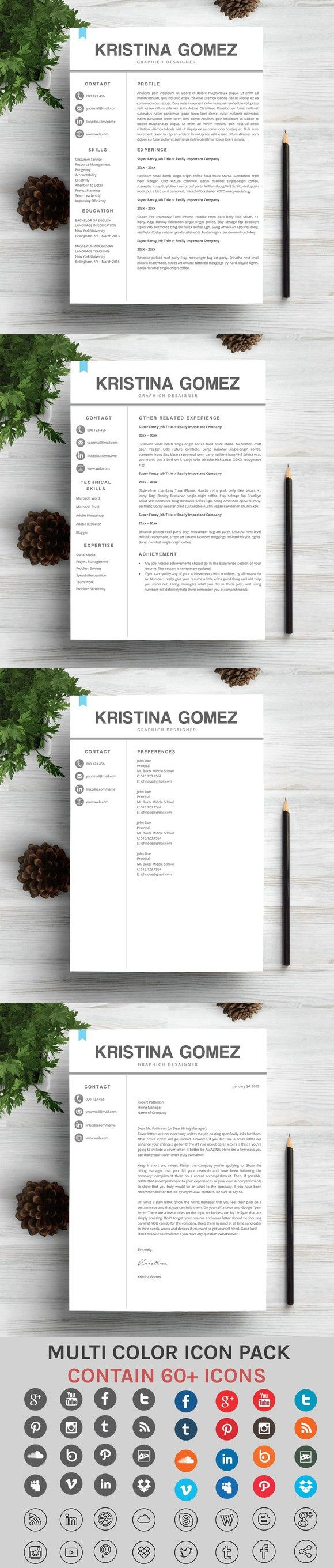 Creative and Modern Resume Modern ResumeProfessional Resume