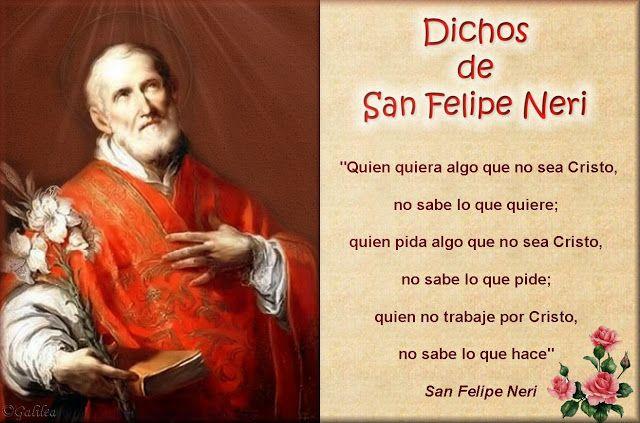 Santa María, Madre de Dios y Madre nuestra: Dichos de San Felipe Neri