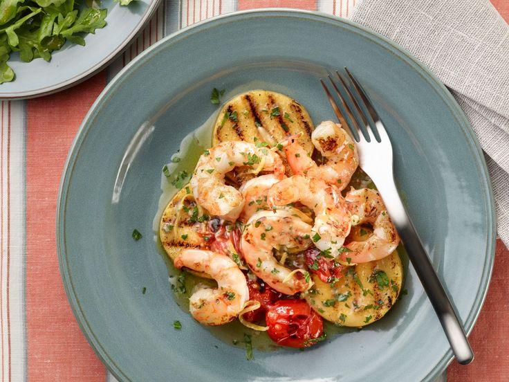 Grilled Shrimp and Polenta recipe from Food Network Kitchen via Food Network