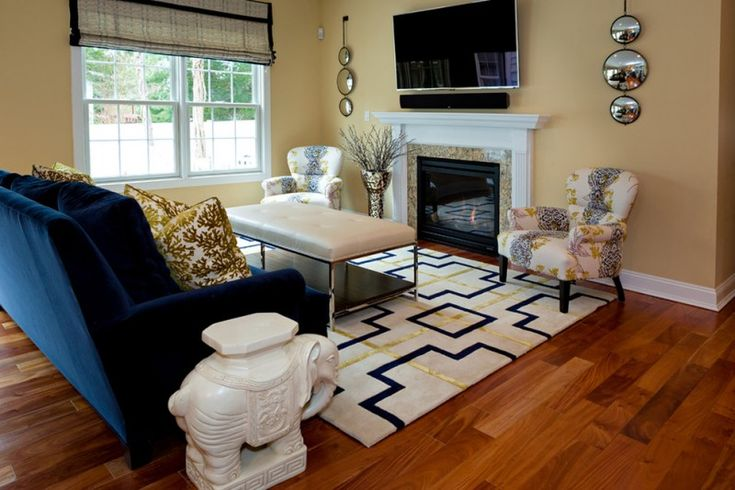 Best Making Your Blue Accent Chairs As The Focal Point On The 640 x 480
