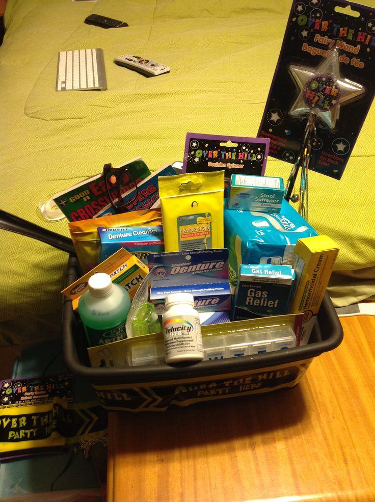 50th birthday basket i made dollar store has everything