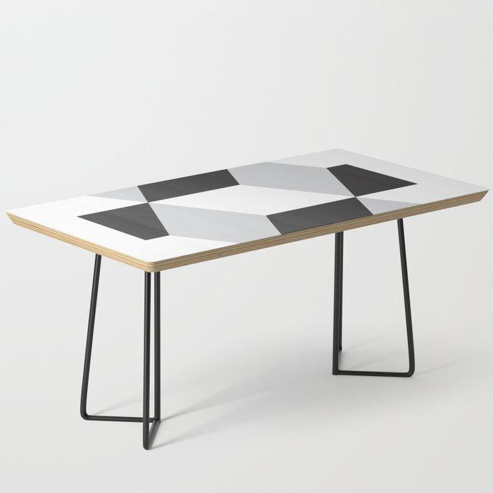 Cubism Black And White Coffee Table By Nileshkikuuchise Simple
