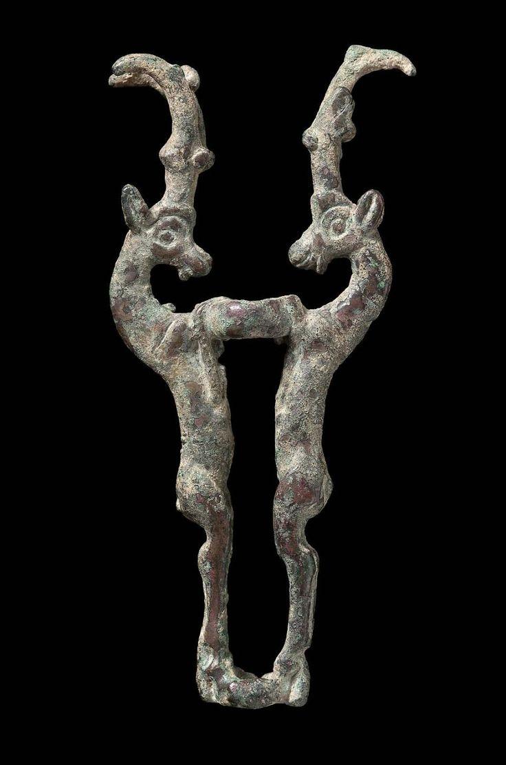 Ibex equine rod holder      Near Eastern, Iranian, Luristan, Iron Age, 7th–4th century B.C. (MFA)