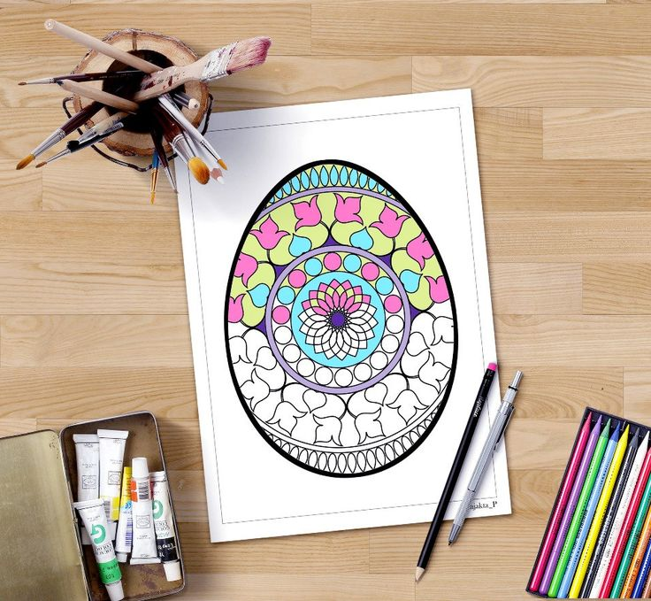 Adult Easter coloring page, Spring coloring, Easter egg zentangle, henna doodle,holiday activity,Adult coloring book,Easter coloring project