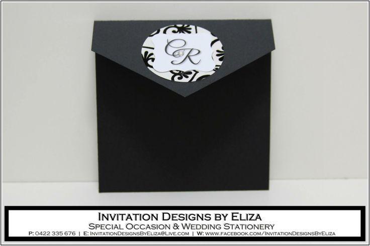 Invitation Design {Wedding} Black & White Theme www.facebook.com/InvitationDesignsByEliza