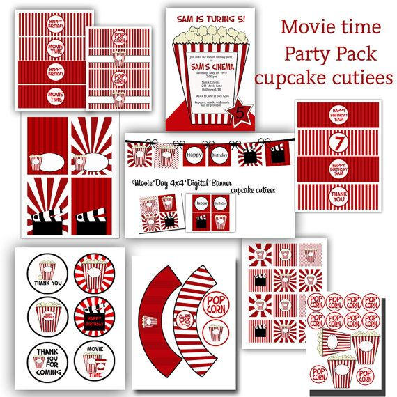 Movie Party Printable package!