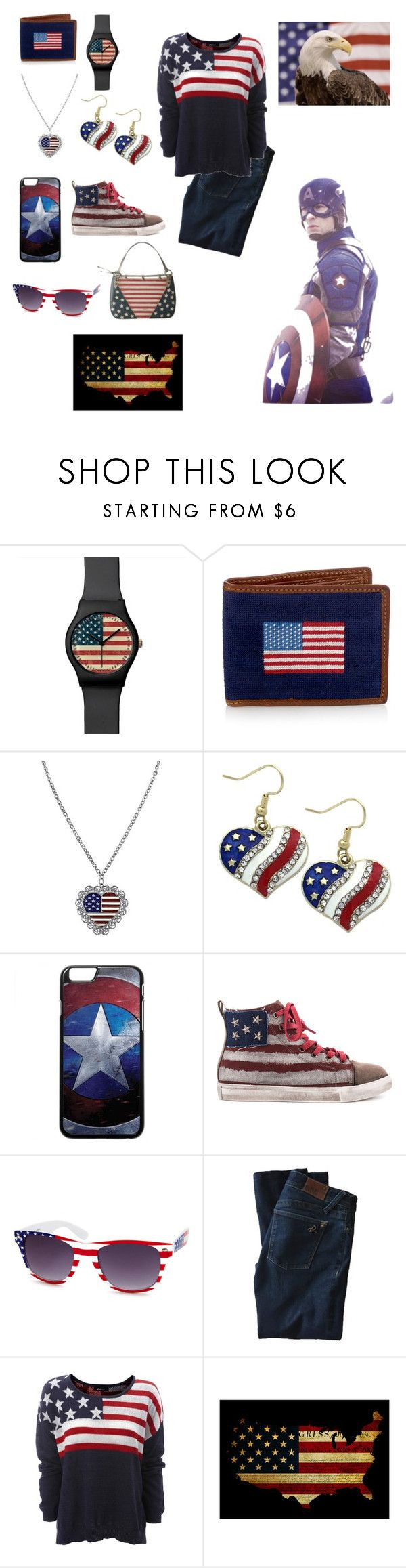 """All American"" by ymccurdy ❤ liked on Polyvore featuring 1928, Penny Sue, Charlotte Russe, DL1961 Premium Denim and MINNA"