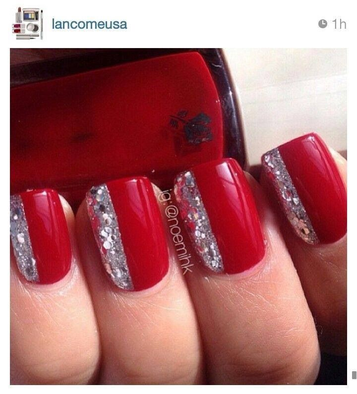 Red & Silver. classy.  Nails To Die For