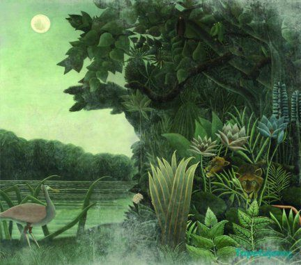 Fototapeta Smart Deco 507A (222 PLN / m2)  // stunning Smart Deco wallpaper painting green jungle tiger