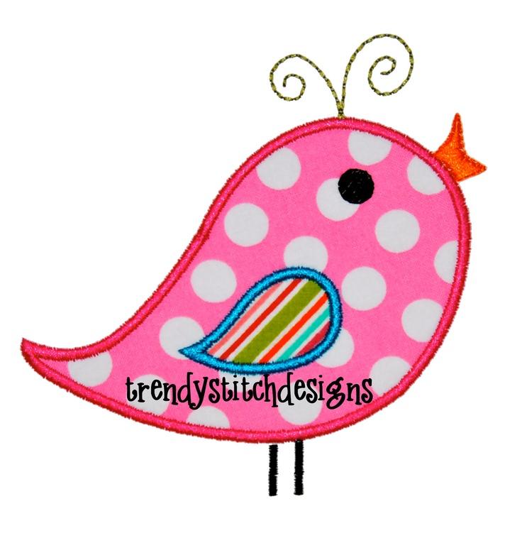 Whirly Bird Applique Machine Embroidery Design