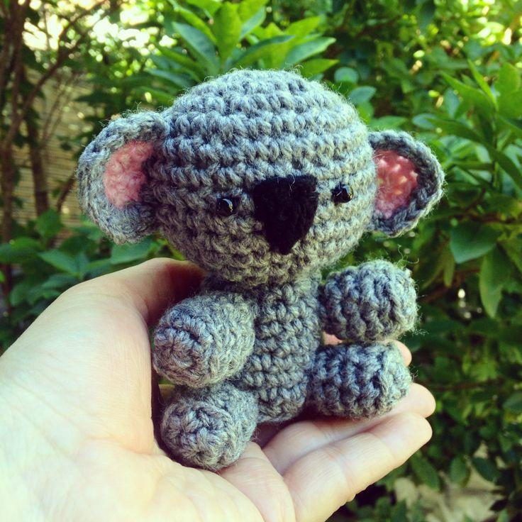 Just finished this cute little Amigurumi Koala. I found the pattern here http://www.craftpassion.com/2010/11/crochet-koala-bear-amigurumi-tutorial-pattern.html/2