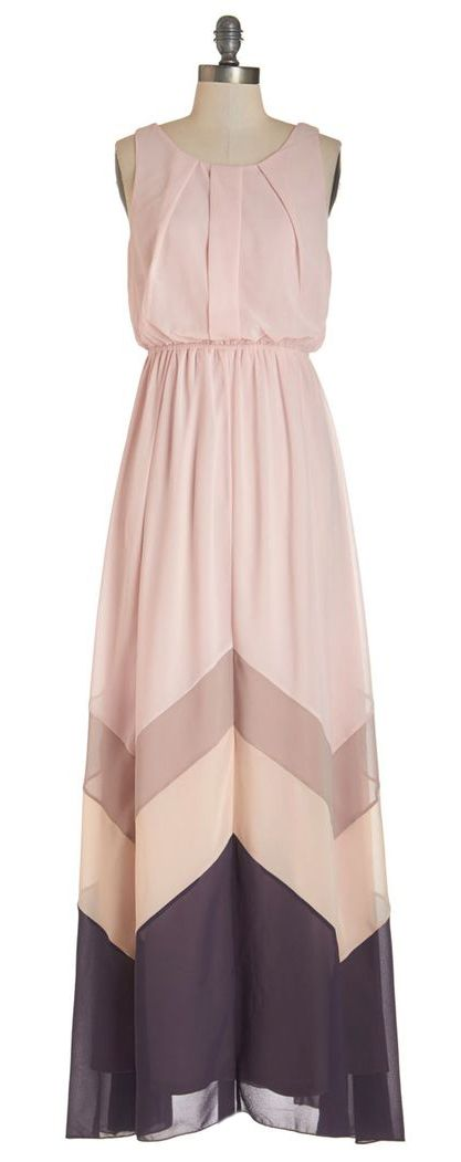 Peach chevron maxi
