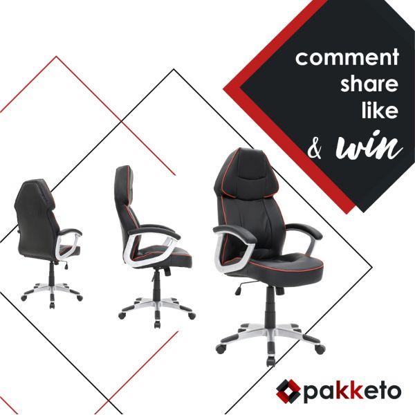 Μία πολυθρόνα γραφείου διευθυντή Henry – ένας τυχερός fan που θα την κερδίσει! Πάρε μέρος στον διαγωνισμό κάνοντας α) Like στο page Pakketo αν δεν έχεις κάνει, β) share το post του διαγωνισμού και γ) ένα σχόλιο με το hashtag #enasallaHenry [Μετά από κλήρωση θα αναδειχθεί ένας τυχερός. Ο διαγωνισμός ολοκληρώνεται την Κυριακή 12/03/2017]