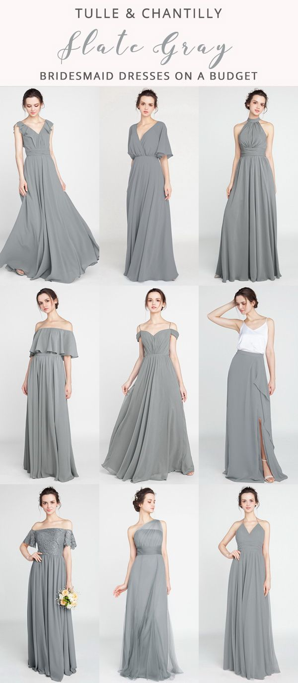 Long Short Bridesmaid Dresses 79 149 Size 0 30 And 50 Colors Grey Bridesmaid Dresses Bridesmaid Dress Collection Grey Bridesmaids