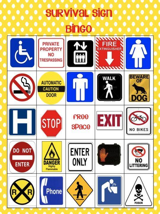 Ms. Rachel's Room - a special ed classroom blog: Survival Sign Bingo (NEW) GIVEAWAY!