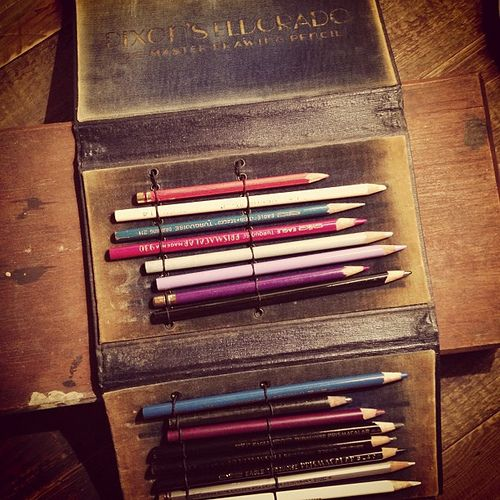 Vintage pencil-themed goodness from my personal collection.  #typehunter #vintage #vintagetypography