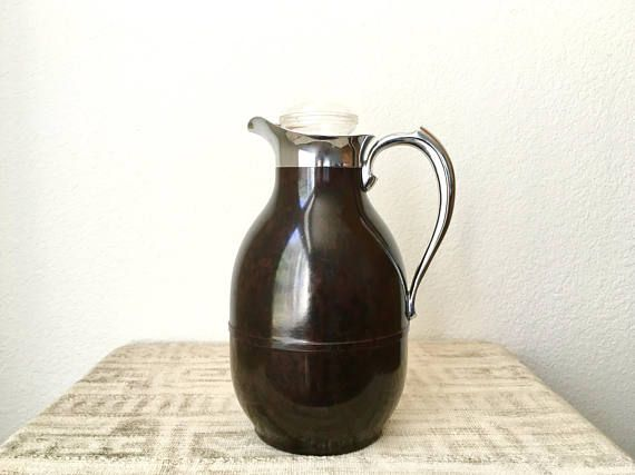 Vintage Mid Century Modern Thermos Insulated Coffee Carafe