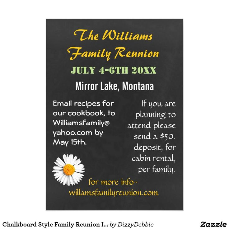 411 best Family Reunion Invitations,Gifts,t-shirts images on - invitations for family reunion
