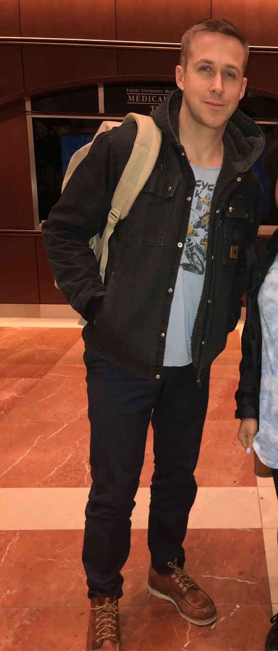 Ryan Gosling in Atlanta (January 12, 2018)