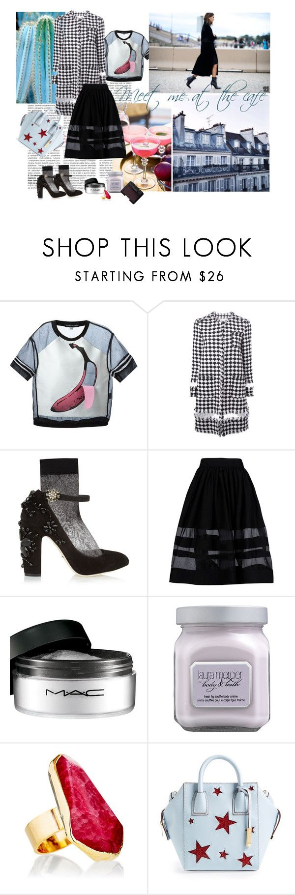 """Sheer luck"" by maiibria ❤ liked on Polyvore featuring Ostwald Helgason, MSGM, Dolce&Gabbana, Alice + Olivia, MAC Cosmetics, Laura Mercier, Janna Conner, STELLA McCARTNEY and NARS Cosmetics"
