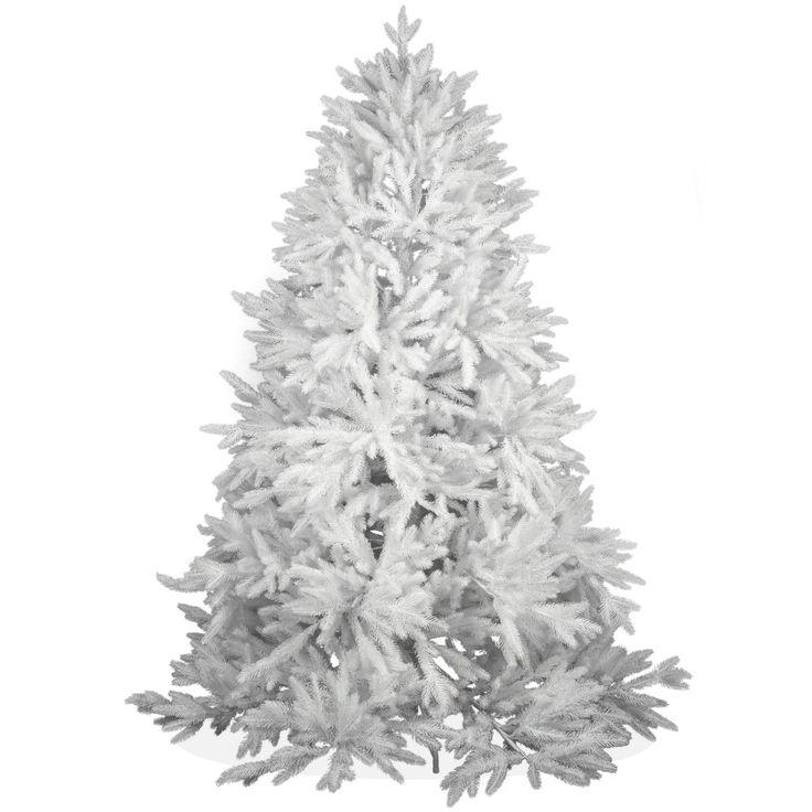 Künstlicher Weihnachtsbaum 180cm DeLuxe PE Spritzguss schneeweißer Tannenbaum Nordmanntanne, Christbaum