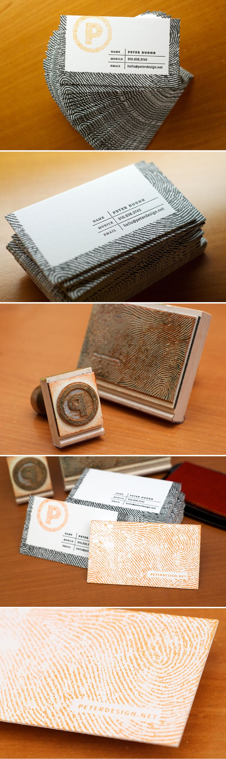 Peter Duong Letterpress + Stamp Business Cards - Business Cards - Creattica