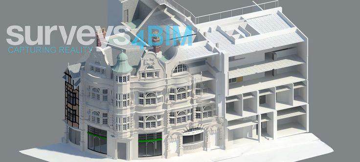 Revit model - survey4bim - complete measured building survey undertaken using 3d laser scanning in Oxford