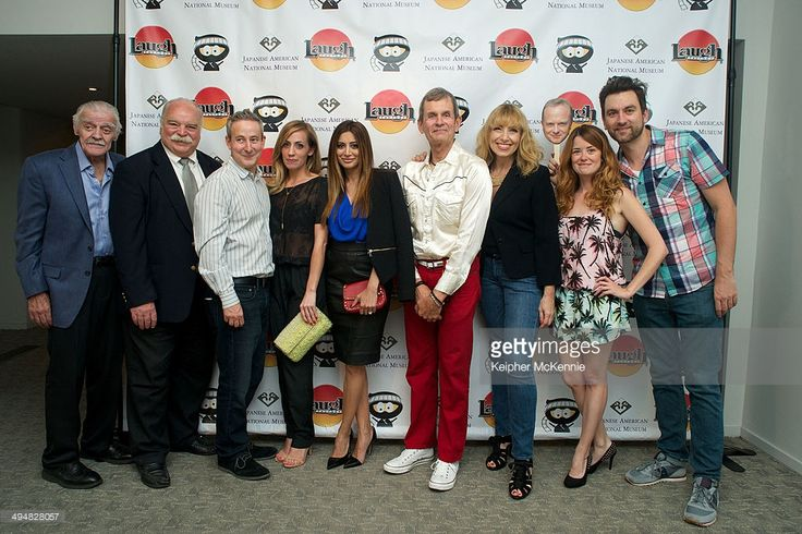 Jack Wallace, Richard Riehle, Eddie Jamison, Zibby Allen, Noureen Dewulf, Denise Grayson, Angela Gollan and Nathan Marshall attend the opening night of Comedy Ninja Film Festival at Japanese American National Museum on May 30, 2014 in Los Angeles, California.