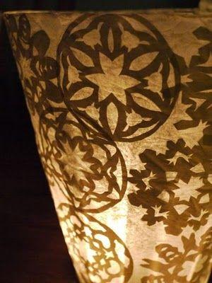 Tutorial: Winter lamp DIY