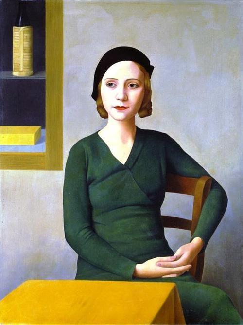 Antonio Donghi (Italian, 1897-1963) - Woman at the Café, 1932. Oil on canvas; 80 x 60cm. Venice, Fondazione Musei Civici di Venezia, Galleria Internazionale d'Arte Moderna di Ca' Pesaro