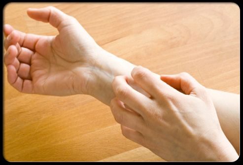 Eczema (Atopic Dermatitis) Pictures Slideshow: Causes, Symptoms and Treatment.  Slide 9 is seborrheic eczema (dermatitis).  Slide 13 is Dyshidrotic Eczema (includes blisters on fingers).