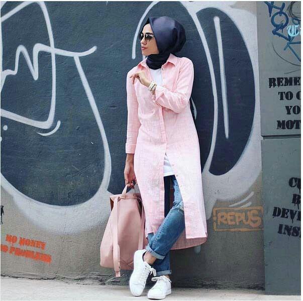 Longe chemise rose crème withe backbag a la même couleur