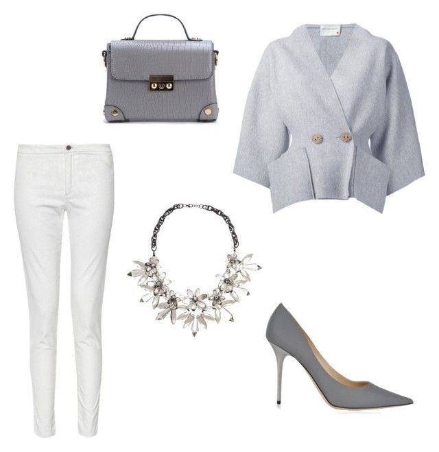 """Grey and white"" by borbalastyle on Polyvore featuring French Connection, Maison Rabih Kayrouz, John Lewis and Jimmy Choo"