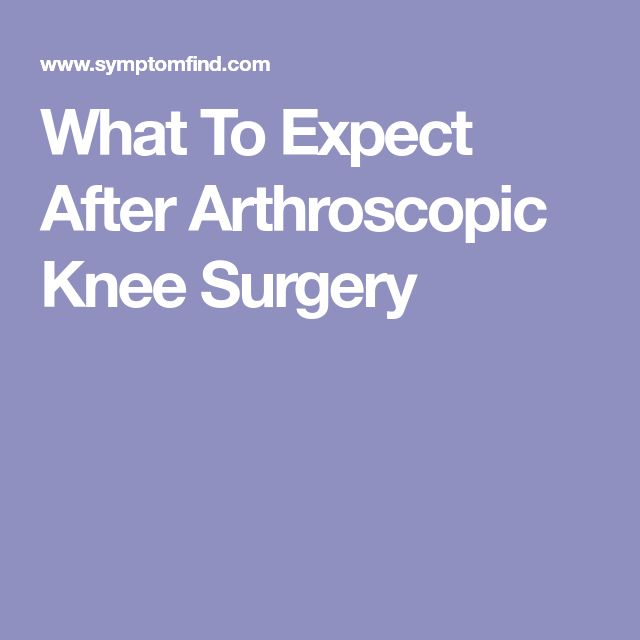 What To Expect After Arthroscopic Knee Surgery