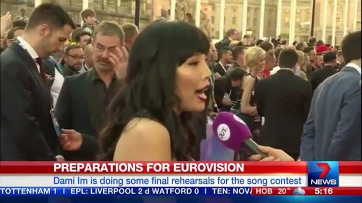 Dami Im - Red Carpet 7 News Sydney Australia! #Eurovision